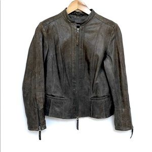 Danier Fitted Moto Leather Jacket XS